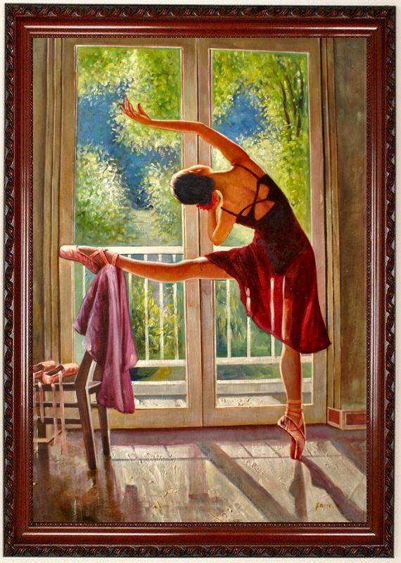 Ballerina lbild lgem lde handgemalt f 60x90 ebay for Fenster 60x90